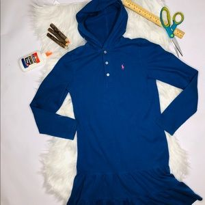 Ralph Lauren Ruffle Dress~Stretch Pique Polo hood